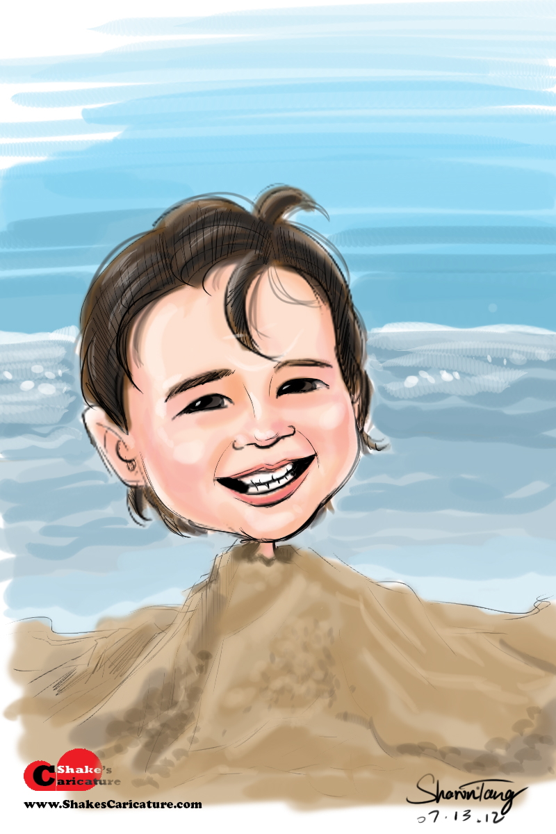 a smile a day 22/365: caricature of a cute baby boy noah | shake's