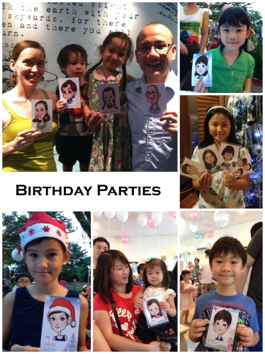 Birthday Parties Caricature Event