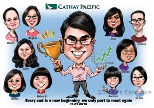 Cathy Pacific_ Group Caricature_ Farewell