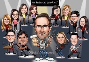 Group Caricature Farewell