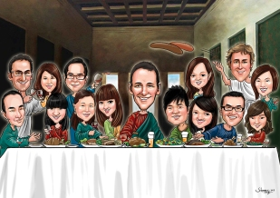 Group Caricature_ Last Supper