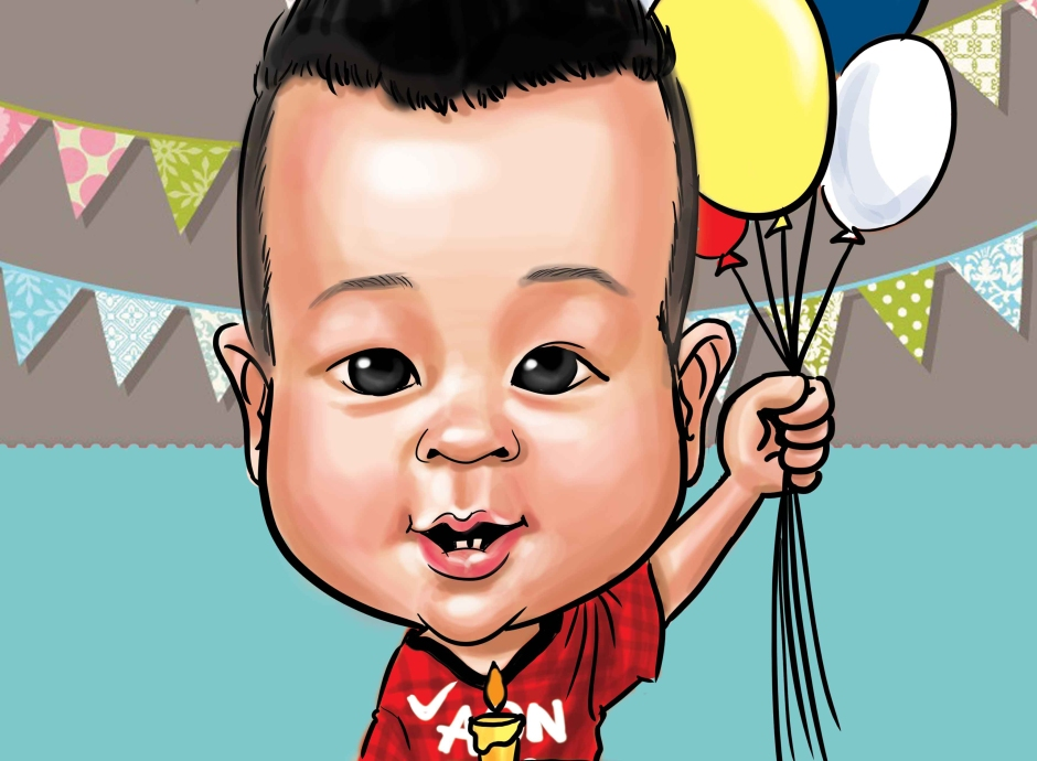Birthday Caricature for kid