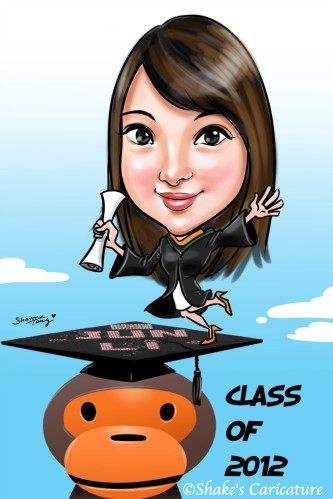 apple_graduation©Shake's Caricature