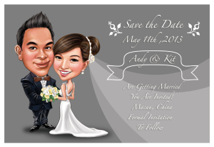 Wedding Caricature Save the Date 4