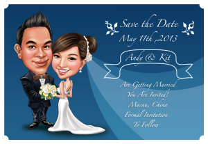Wedding Caricature Save the Date 3