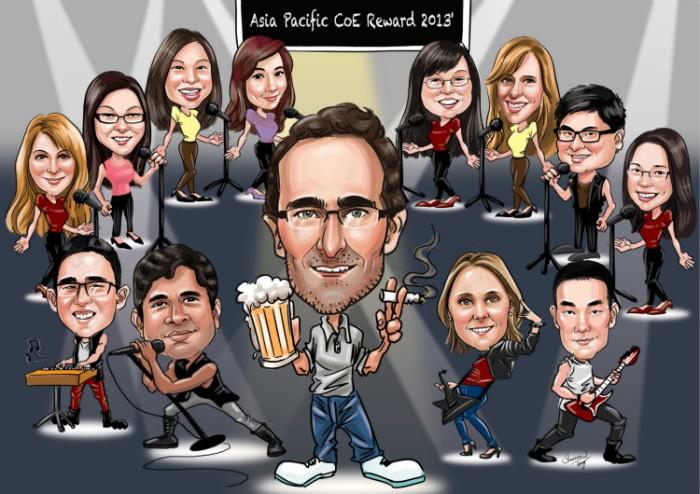 Farewell Caricature Boss Concert Beer
