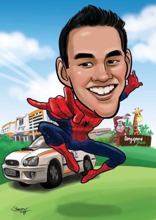 Spiderman Caricature