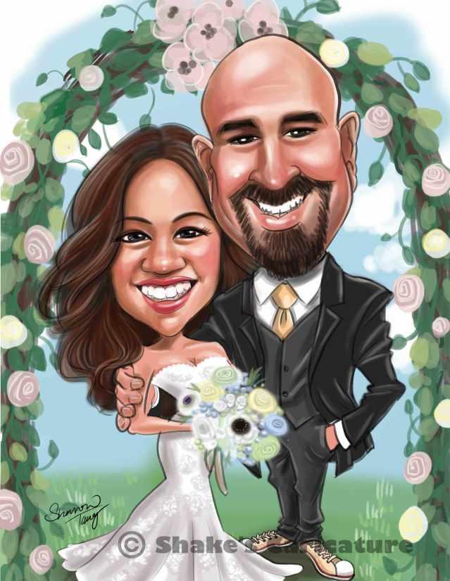 Wedding Caricature Garden