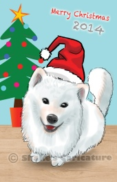 dog_ pet caricature_ chritsmas theme