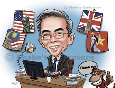 Single Caricature_ Boss _ Farewell