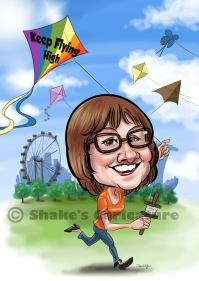 caricature_ kite _ Singapore