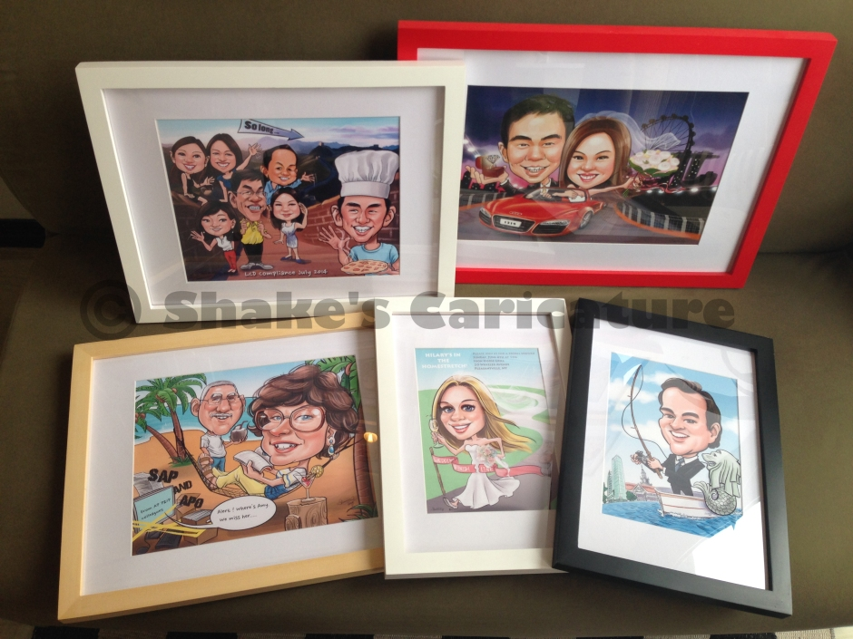 Caricatures with frames