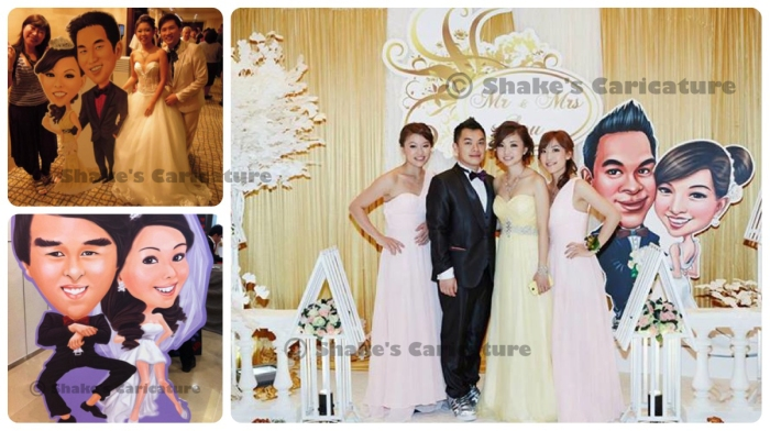 Caricature Standee for Wedding