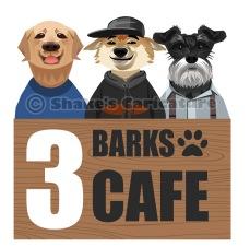 Pets logo_ caricature_ 3 Barks Cafe_ Singapore