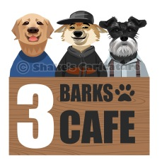 Pets logo_ caricature_ 3 Barks Cafe_ Singapore