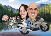 Wedding caricature with your pet _ cat _ kitty
