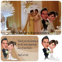 Wedding Caricature Standee life size