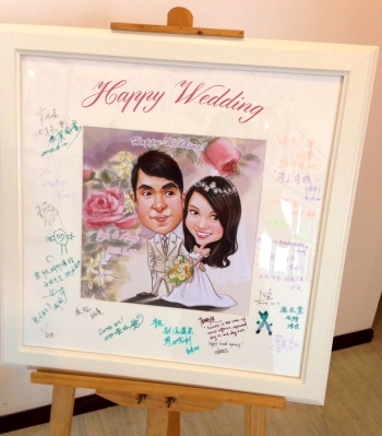 wedding guests sign in board