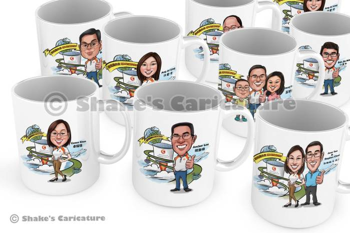 Caricature mugs