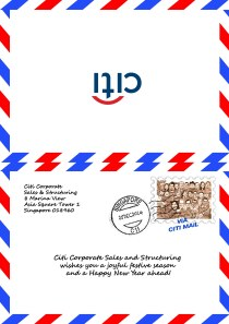 Citi Bank_ Greeting Card for Christmas