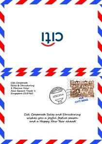 Citi Bank_ Greeting Card for Christmas