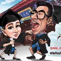 Graduate Caricature _ cartoon