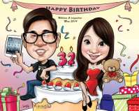 Coupe Caricature _ Birthday
