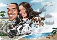 Wedding Caricature _ sweet couple _ wedding invitation