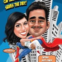 Wedding Caricature in India _ hero