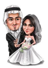Wedding Caricature in Dubai
