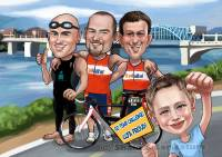 Summer_ Sports_ Marathon Caricature