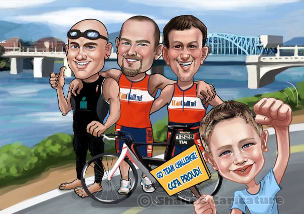 Summer_ Sports_ Marathon Caricature