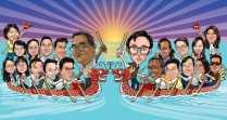 dragon boat _ caricature