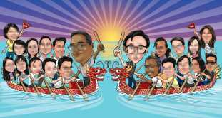 dragon boat _ caricature