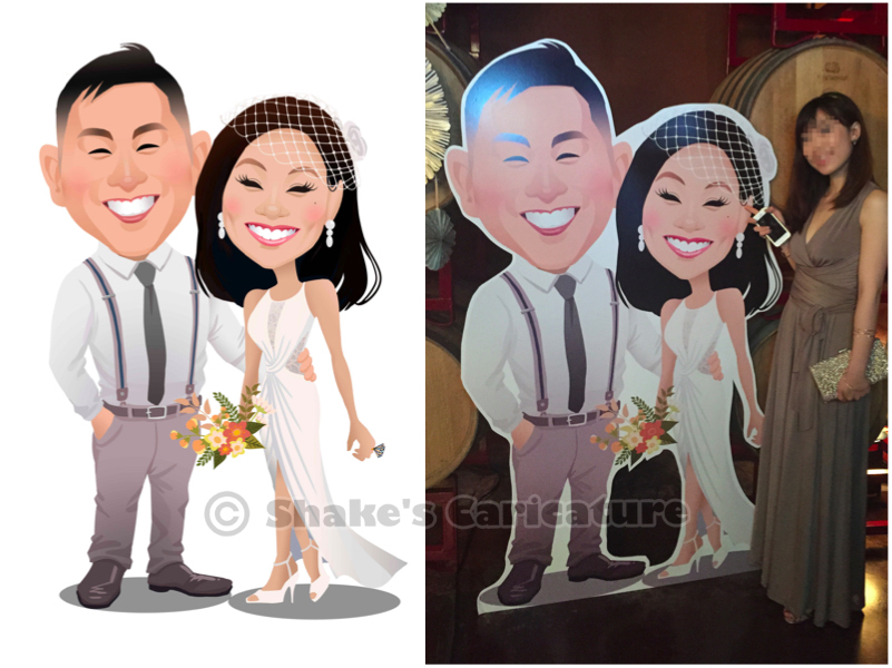 wedding caricature standee