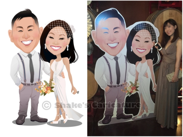 wedding caricature standee
